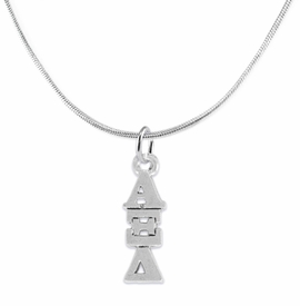 <bR>      WHOLESALE FASHION SORORITY JEWELRY  <BR>                     EXCLUSIVELY OURS!!  <BR>                AN ALLAN ROBIN DESIGN!!   <BR>               HYPOALLERGENIC - SAFE !!  <BR>          LEAD, NICKEL & CADMIUM FREE!!   <BR> W847N2 - OFFICIAL SILVER TONE GREEK <BR> ALPHA XI DELTA SORORITY CHARM ON SNAKE <Br> CHAIN NECKLACE FROM $5.90 TO $9.25 �2015