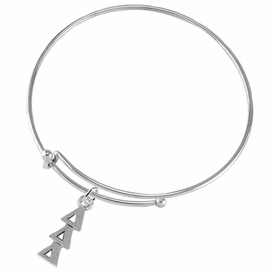 <bR>      WHOLESALE FASHION SORORITY JEWELRY  <BR>                     EXCLUSIVELY OURS!!  <BR>                AN ALLAN ROBIN DESIGN!!   <BR>               HYPOALLERGENIC - SAFE !!  <BR>          LEAD, NICKEL & CADMIUM FREE!!   <BR> W851B9 - OFFICIAL SILVER TONE GREEK <BR>DELTA DELTA DELTA SORORITY CHARM ON ADJUSTABLE <Br> WIRE BRACELET FROM $5.90 TO $9.25 �2015