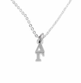 <bR>      WHOLESALE FASHION SORORITY JEWELRY  <BR>                     EXCLUSIVELY OURS!!  <BR>                AN ALLAN ROBIN DESIGN!!   <BR>               HYPOALLERGENIC - SAFE !!  <BR>          LEAD, NICKEL & CADMIUM FREE!!   <BR> W853N1 - OFFICIAL SILVER TONE GREEK <BR>  DELTA GAMMA SORORITY CHARM ON LOBSTER<Br> CLASP NECKLACE FROM $5.90 TO $9.25 �2015
