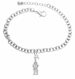 <bR>      WHOLESALE FASHION SORORITY JEWELRY  <BR>                      EXCLUSIVELY OURS!!  <BR>                 AN ALLAN ROBIN DESIGN!!   <BR>                HYPOALLERGENIC - SAFE !!   <BR>           LEAD, NICKEL & CADMIUM FREE!!    <BR>    W861SB2 - OFFICIAL SILVER TONE GREEK  <BR>  GAMMA PHI BETA SORORITY CHARM ON LOBSTER <Br> CLASP BRACELET FROM $5.90 TO $9.25 �2015