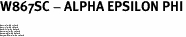 "W867SC - ALPHA EPSILON PHI<BR><FONT size=""2"">Buy 1-2 for $6.75 Each<br>Buy 3-5 for $6.10 Each<br>Buy 6-11 for $5.60 Each<br>Buy 12-23 for $5.10 Each<br>Buy 24-49 for $4.60 Each<br>Buy 50 or More for $4.10 Each</font>"
