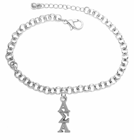 <bR>      WHOLESALE FASHION SORORITY JEWELRY  <BR>                     EXCLUSIVELY OURS!!  <BR>                AN ALLAN ROBIN DESIGN!!   <BR>               HYPOALLERGENIC - SAFE !!  <BR>          LEAD, NICKEL & CADMIUM FREE!!   <BR> W877SB2 - OFFICIAL SILVER TONE GREEK <BR> ALPHA SIGMA ALPHA SORORITY CHARM ON LOBSTER<Br> CLASP BRACELET FROM $5.90 TO $9.25 �2015