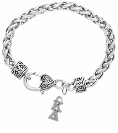<BR> WHOLESALE FASHION SORORITY JEWELRY <BR> EXCLUSIVELY OURS!! <BR> AN ALLAN ROBIN DESIGN!! <BR>               HYPOALLERGENIC - SAFE !!     <BR>          LEAD, NICKEL & CADMIUM FREE!!    <BR>    W880B1 - OFFICIAL SILVER TONE GREEK  <BR>   KAPPA DELTA SORORITY CHARM ON HEART LOBSTER <Br> CLASP BRACELET FROM $5.90 TO $9.25 �2015