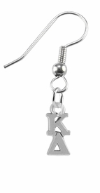 <BR> WHOLESALE FASHION SORORITY JEWELRY <BR> EXCLUSIVELY OURS!! <BR> AN ALLAN ROBIN DESIGN!! <BR>               HYPOALLERGENIC - SAFE !!     <BR>          LEAD, NICKEL & CADMIUM FREE!!    <BR>    W880E1 - OFFICIAL SILVER TONE GREEK  <BR>   KAPPA DELTA SORORITY CHARMS ON STEEL <Br> FISHHOOK EARRINGS FROM $5.90 TO $9.25 �2015