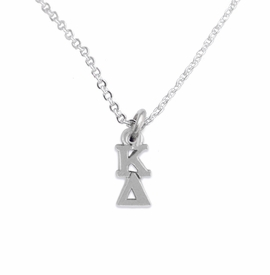 <BR> WHOLESALE FASHION SORORITY JEWELRY <BR> EXCLUSIVELY OURS!! <BR> AN ALLAN ROBIN DESIGN!! <BR>               HYPOALLERGENIC - SAFE !!     <BR>          LEAD, NICKEL & CADMIUM FREE!!    <BR>    W880N1 - OFFICIAL SILVER TONE GREEK  <BR>   KAPPA DELTA SORORITY CHARM ON LOBSTER <Br> CLASP CHAIN NECKLACE FROM $5.90 TO $9.25 �2015
