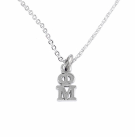 <BR> WHOLESALE FASHION SORORITY JEWELRY <BR> EXCLUSIVELY OURS!! <BR> AN ALLAN ROBIN DESIGN!! <BR>               HYPOALLERGENIC - SAFE !!     <BR>          LEAD, NICKEL & CADMIUM FREE!!    <BR>    W885N1 - OFFICIAL SILVER TONE GREEK  <BR>   PHI MU SORORITY CHARM ON LOBSTER <Br> CLASP CHAIN NECKLACE FROM $5.90 TO $9.25 �2015