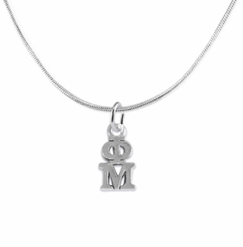 <BR> WHOLESALE FASHION SORORITY JEWELRY <BR> EXCLUSIVELY OURS!! <BR> AN ALLAN ROBIN DESIGN!! <BR>               HYPOALLERGENIC - SAFE !!     <BR>          LEAD, NICKEL & CADMIUM FREE!!    <BR>    W885N2 - OFFICIAL SILVER TONE GREEK  <BR>   PHI MU SORORITY CHARM ON SNAKE <Br> CHAIN NECKLACE FROM $5.90 TO $9.25 �2015