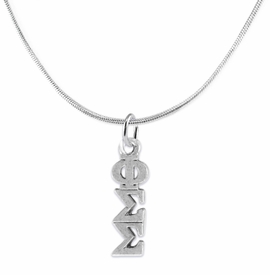 <bR>       WHOLESALE FASHION SORORITY JEWELRY    <BR>                       EXCLUSIVELY OURS!!    <BR>                  AN ALLAN ROBIN DESIGN!!     <BR>                 HYPOALLERGENIC - SAFE !!    <BR>            LEAD, NICKEL & CADMIUM FREE!!      <BR>      W886N2 - OFFICIAL SILVER TONE GREEK   <BR>PHI SIGMA SIGMA SORORITY CHARM ON DELICATE <Br>SNAKE CHAIN NECKLACE FROM $5.90 TO $9.25 �2015