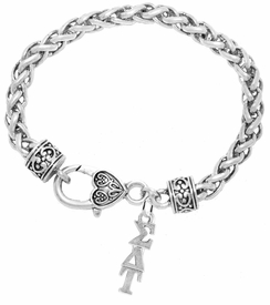 <bR>       WHOLESALE FASHION SORORITY JEWELRY     <BR>                       EXCLUSIVELY OURS!!     <BR>                  AN ALLAN ROBIN DESIGN!!      <BR>                 HYPOALLERGENIC - SAFE !!     <BR>            LEAD, NICKEL & CADMIUM FREE!!      <BR>      W889B1 - OFFICIAL SILVER TONE GREEK    <BR>  SIGMA DELTA TAU SORORITY CHARM ON HEART   <Br> CLASP BRACELET FROM $5.90 TO $9.25 �2015