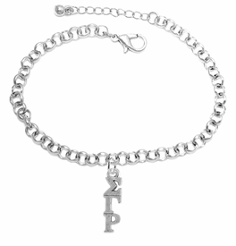 <bR>       WHOLESALE FASHION SORORITY JEWELRY    <BR>                       EXCLUSIVELY OURS!!    <BR>                  AN ALLAN ROBIN DESIGN!!     <BR>                 HYPOALLERGENIC - SAFE !!    <BR>            LEAD, NICKEL & CADMIUM FREE!!     <BR>      W891B2 - OFFICIAL SILVER TONE GREEK   <BR>SIGMA GAMMA RHO SORORITY CHARM ON LOBSTER <Br> CLASP BRACELET FROM $5.90 TO $9.25 �2015