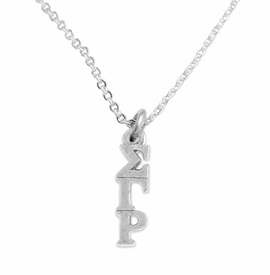 <bR>       WHOLESALE FASHION SORORITY JEWELRY    <BR>                       EXCLUSIVELY OURS!!    <BR>                  AN ALLAN ROBIN DESIGN!!     <BR>                 HYPOALLERGENIC - SAFE !!    <BR>            LEAD, NICKEL & CADMIUM FREE!!     <BR>      W891N1 - OFFICIAL SILVER TONE GREEK   <BR>SIGMA GAMMA RHO SORORITY CHARM ON DELICATE <Br> CHAIN LINK NECKLACE FROM $5.90 TO $9.25 �2015