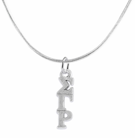 <bR>       WHOLESALE FASHION SORORITY JEWELRY    <BR>                       EXCLUSIVELY OURS!!    <BR>                  AN ALLAN ROBIN DESIGN!!     <BR>                 HYPOALLERGENIC - SAFE !!    <BR>            LEAD, NICKEL & CADMIUM FREE!!     <BR>      W891N2 - OFFICIAL SILVER TONE GREEK   <BR>SIGMA GAMMA RHO SORORITY CHARM ON DELICATE <Br> SNAKE CHAIN NECKLACE FROM $5.90 TO $9.25 �2015