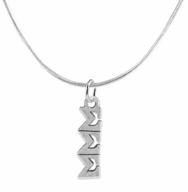 <bR>       WHOLESALE FASHION SORORITY JEWELRY    <BR>                       EXCLUSIVELY OURS!!    <BR>                  AN ALLAN ROBIN DESIGN!!     <BR>                 HYPOALLERGENIC - SAFE !!    <BR>            LEAD, NICKEL & CADMIUM FREE!!     <BR>      W895N2 - OFFICIAL SILVER TONE GREEK   <BR>SIGMA SIGMA SIGMA SORORITY CHARM ON DELICATE <Br>SNAKE CHAIN NECKLACE FROM $5.90 TO $9.25 �2015