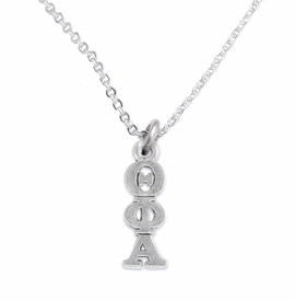 <bR>       WHOLESALE FASHION SORORITY JEWELRY   <BR>                       EXCLUSIVELY OURS!!   <BR>                  AN ALLAN ROBIN DESIGN!!    <BR>                 HYPOALLERGENIC - SAFE !!   <BR>            LEAD, NICKEL & CADMIUM FREE!!    <BR>      W897N1 - OFFICIAL SILVER TONE GREEK  <BR>   THETA PHI ALPHA SORORITY CHARM ON DELICATE <Br>CHAIN LINK NECKLACE FROM $5.90 TO $9.25 �2015