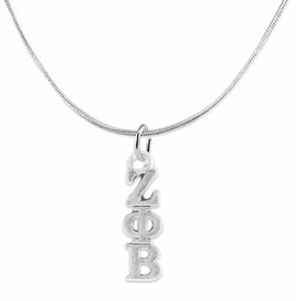 <bR>      WHOLESALE FASHION SORORITY JEWELRY   <BR>                       EXCLUSIVELY OURS!!   <BR>                  AN ALLAN ROBIN DESIGN!!    <BR>                 HYPOALLERGENIC - SAFE !!   <BR>            LEAD, NICKEL & CADMIUM FREE!!    <BR>      W899N2 - OFFICIAL SILVER TONE GREEK  <BR>    ZETA PHI BETA SORORITY CHARM ON SNAKE <Br> CHAIN NECKLACE FROM $5.90 TO $9.25 �2015