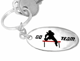 "<bR>  W9208KC - ""GO TEAM"" TRACK<br>SILVER FINISH THEME KEY CHAIN<Br>                  AS LOW AS $1.99<br>EXCLUSIVELY OURS! WE ARE THE<Br>          ONLY MANUFACTURER!"