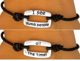 """<br>      W9283BA - EXCLUSIVELY OURS!!<br>12-STYLE SILVER TONE DOUBLE-SIDED<br> """"FUN PHRASE COLLECTION"""" BRACELET<Br>     ASSORTMENT FROM $2.81 TO $3.56"""