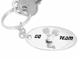 "<bR>          W9285KC - ""GO TEAM"" 3-D<br>          CHEERLEADER SILVER FINISH<br>           KEY CHAIN AS LOW AS $1.99<br>EXCLUSIVELY OURS! WE ARE THE ONLY<Br>                        MANUFACTURER!"