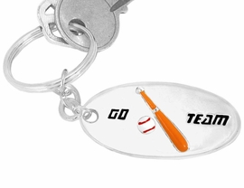 "<bR>   W9287KC - ""GO TEAM"" 3-D BASEBALL<br>SILVER TONE KEY CHAIN AS LOW AS $2.50<br>    EXCLUSIVELY OURS! WE ARE THE ONLY<Br>                          MANUFACTURER!"