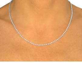 "W9344N - 14"" BALL CHAIN NECKLACE<Br>             YOUR LOW PRICE IS $1.25"