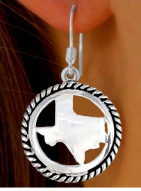 W9750E - POLISHED SILVER TONE<bR>TEXAS FISHHOOK WIRE EARRINGS<br>                  AS LOW AS $1.40