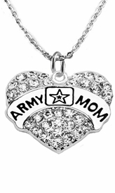 "<Br>              WHOLESALE  ARMY MOM JEWELRY  <BR>                         AN ALLAN ROBIN DESIGN!! <Br>                   CADMIUM, LEAD & NICKEL FREE!!  <Br> W1808N1  ""ARMY MOM"" HEART  <BR>  CHARM ON HEART ADJUSTABLE NECKLACE <BR>            FROM $7.50 TO $9.50 �2016"