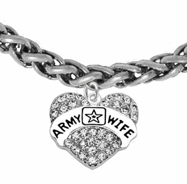 "<Br>              WHOLESALE  ARMY WIFE JEWELRY  <BR>                         AN ALLAN ROBIN DESIGN!! <Br>                   CADMIUM, LEAD & NICKEL FREE!!  <Br>                   W1809B17  ""ARMY WIFE"" HEART  <BR>              CHARM ON WHEAT CHAIN BRACELET <BR>                        FROM $7.50 TO $9.50 �2016"
