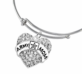 "<Br>              WHOLESALE  ARMY MOM JEWELRY  <BR>                         AN ALLAN ROBIN DESIGN!! <Br>                   CADMIUM, LEAD & NICKEL FREE!!  <Br> W1808B9  ""ARMY MOM"" HEART  <BR>  CHARM ON MIRACLE WIRE ADJUSTABLE BRACELET <BR>            FROM $7.50 TO $9.50 �2016"