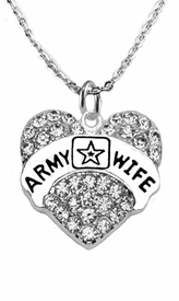 "<Br>              WHOLESALE  ARMY WIFE JEWELRY  <BR>                         AN ALLAN ROBIN DESIGN!! <Br>                   CADMIUM, LEAD & NICKEL FREE!!  <Br>                  W1809N1  ""ARMY WIFE"" HEART  <BR>      CHARM ON HEART ADJUSTABLE NECKLACE <BR>                          FROM $7.50 TO $9.50 �20"