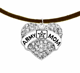 "<Br>              WHOLESALE  ARMY MOM JEWELRY  <BR>                         AN ALLAN ROBIN DESIGN!! <Br>                   CADMIUM, LEAD & NICKEL FREE!!  <Br> W1808N4  ""ARMY MOM"" HEART  <BR>  CHARM ON HEART ADJUSTABLE NECKLACE <BR>            FROM $7.50 TO $9.50 �2016"
