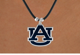 <br>      WHOLESALE AUBURN JEWELRY<Br>                  LEAD & NICKEL FREE!!<Br>OFFICIALLY LICENSED COLLEGE LOGO!!<Br>       W15775N - AUBURN UNIVERSITY<BR>       TIGERS BLACK CORD NECKLACE<Br>                 FROM $6.75 TO $15.00
