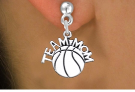 "<br>      WHOLESALE BASKETBALL EARRINGS <bR>                  EXCLUSIVELY OURS!! <BR>             AN ALLAN ROBIN DESIGN!! <BR>       CADMIUM, LEAD & NICKEL FREE!! <BR>      W1487SE - DETAILED SILVER TONE <Br> ""TEAM MOM"" BASKETBALL CHARM EARRINGS <BR>           FROM $3.65 TO $8.40 �2013"