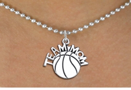 "<br>          WHOLESALE BASKETBALL JEWELRY <bR>                    EXCLUSIVELY OURS!! <BR>               AN ALLAN ROBIN DESIGN!! <BR>      CLICK HERE TO SEE 1000+ EXCITING <BR>            CHANGES THAT YOU CAN MAKE! <BR>         CADMIUM, LEAD & NICKEL FREE!! <BR>        W1487SN - DETAILED SILVER TONE <BR> ""TEAM MOM"" BASKETBALL CHARM & NECKLACE <BR>              FROM $4.85 TO $8.30 �2013"