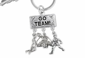 "<br> WHOLESALE BASKETBALL KEYCHAIN<Br>                EXCLUSIVELY OURS!! <Br>           AN ALLAN ROBIN DESIGN!! <Br>              LEAD & NICKEL FREE!! <Br> W20126KC - SILVER TONE ""GO TEAM!"" <BR> ""I LOVE BASKETBALL"" & PLAYER CHARMS <BR> WOMENS BASKETBALL THEMED KEY RING <BR>         FROM $6.41 TO $14.25 �2013"