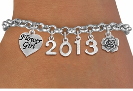 <br>  WHOLESALE BRIDAL CHARM BRACELETS! <Br>                     EXCLUSIVELY OURS!! <Br>                AN ALLAN ROBIN DESIGN!! <Br>                   LEAD & NICKEL FREE!! <BR>            THIS IS A PERSONALIZED ITEM <Br>    W20405B - SILVER TONE LOBSTER CLASP <BR>     FLOWER GIRL, CUSTOM YEAR BRACELET <BR>            FROM $9.56 TO $21.25 �2013