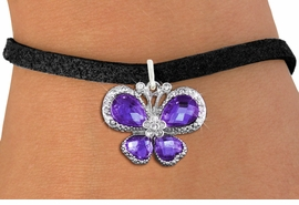 <BR>      WHOLESALE BUTTERFLY BRACELET<bR>                 EXCLUSIVELY OURS!! <Br>             AN ALLAN ROBIN DESIGN!! <BR>    CLICK HERE TO SEE 1000+ EXCITING <BR>       CHANGES THAT YOU CAN MAKE!<BR>       LEAD, NICKEL & CADMIUM FREE!! <BR>  W1397SB - SILVER TONE AND PURPLE <BR> CRYSTAL BUTTERFLY CHARM & BRACELET <BR>         FROM $5.40 TO $9.85 �2013