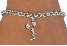 <br> WHOLESALE CHEER LEADING BRACELET<bR>                 EXCLUSIVELY OURS!!<BR>            AN ALLAN ROBIN DESIGN!!<BR>   CLICK HERE TO SEE 1000+ EXCITING<BR>         CHANGES THAT YOU CAN MAKE!<BR>      CADMIUM, LEAD & NICKEL FREE!!<BR> W1399SB - SPIRIT POM POMS JUMPING <Br>      CHEERLEADER CHARM & BRACELET <BR>          FROM $4.15 TO $8.00 �2013