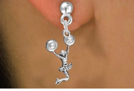 <br> WHOLESALE CHEERLEADER EARRING<bR>                EXCLUSIVELY OURS!!<BR>           AN ALLAN ROBIN DESIGN!!<BR>   CLICK HERE TO SEE 600+ EXCITING<BR>        CHANGES THAT YOU CAN MAKE!<BR>     CADMIUM, LEAD & NICKEL FREE!!<BR> W1399SE - SPIRIT POM POMS JUMPING <Br>       CHEERLEADER CHARM EARRINGS <BR>         FROM $4.50 TO $8.35 �2013