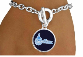"""<BR>      WHOLESALE CITADEL COLLEGE JEWELRY<Br>           LEAD & NICKEL FREE!! <Br>          OFFICIALLY LICENSED!! <bR> W20236B - THE CITADEL MILITARY <Br> COLLEGE """"BULLDOGS"""" LOGO BRACELET <BR>            FROM $3.35 TO $7.50"""