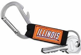<bR>    WHOLESALE COLLEGE KEYCHAIN <BR>    OFFICIAL COLLEGIATE LICENSED!! <br>            LEAD & NICKEL FREE!!! <br>W20565KC - UNIVERSITY OF ILLINOIS <BR> CARABINER WITH BOTTLE OPENER AND <BR>      KEY CHAIN FOR ONLY $3.53! �2013