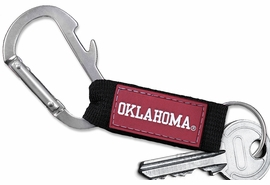 <bR>    WHOLESALE COLLEGE KEYCHAIN <BR>    OFFICIAL COLLEGIATE LICENSED!! <br>            LEAD & NICKEL FREE!!! <br>  W20569KC - UNIVERSITY OF OKLAHOMA <BR> CARABINER WITH BOTTLE OPENER AND <BR>      KEY CHAIN FOR ONLY $3.53! �2013