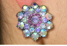 <Br>          WHOLESALE COSTUME JEWELRY <BR>               LEAD & NICKEL FREE!! <Br> W20606E - SILVER TONE ROSE DESIGN <Br> AURORA BOREALIS PETALS WITH ROSE PINK <Br>       CRYSTAL CLIP-ON EAR EARRINGS <Br>         FROM $5.06 TO $11.25 �2013