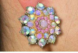 <Br>          WHOLESALE COSTUME JEWELRY <BR>               LEAD & NICKEL FREE!! <Br>    W20607E - GOLD TONE ROSE DESIGN <Br> AURORA BOREALIS PETALS WITH ROSE PINK <Br>       CRYSTAL PIERCED EAR EARRINGS <Br>         FROM $4.50 TO $10.00 �2013