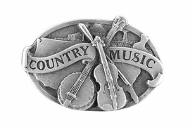 "<br> WHOLESALE COUNTRY MUSIC PIN<Br>            LEAD & NICKEL FREE!!<Br>  W15872P - ""COUNTRY MUSIC""<Br>PEWTER FINISH BANJO & FIDDLE<Br>        PIN FROM $2.25 TO $5.00"