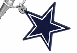 "<br>WHOLESALE  DALLAS COWBOY JEWELRY<bR>            LEAD & NICKEL FREE!!!<br>         OFFICIAL NFL LICENSED!!<br>   NATIONAL FOOTBALL LEAGUE!! <Br>  W19735KC - DALLAS COWBOYS <BR>""STAR LOGO"" LARGE RUBBER <BR>KEY CHAIN FROM $1.58 TO $4.25"