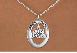 "<BR>      WHOLESALE DANCE NECKLACE<bR>                   EXCLUSIVELY OURS!! <BR>              AN ALLAN ROBIN DESIGN!! <BR>                 LEAD & NICKEL FREE!! <BR> W20051N -  SILVER TONE ""DANCE"" OVAL <BR>       WITH SILVER TONE ""5678 DANCE"" <BR>      CHARM ON CHAIN LINK NECKLACE <BR>          FROM $5.85 TO $13.00 �2013"