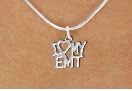 "<br>        WHOLESALE EMT COSTUME JEWELRY <bR>                   EXCLUSIVELY OURS!! <BR>              AN ALLAN ROBIN DESIGN!! <BR>     CLICK HERE TO SEE 1000+ EXCITING <BR>           CHANGES THAT YOU CAN MAKE! <BR>        CADMIUM, LEAD & NICKEL FREE!! <BR>     W1498SN - BEAUTIFUL SILVER TONE <BR>    ""I LOVE MY EMT"" CHARM & NECKLACE <BR>             FROM $4.85 TO $8.30 �2013"