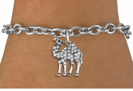 <BR>   WHOLESALE FASHION ANIMAL JEWELRY <bR>                 EXCLUSIVELY OURS!! <Br>            AN ALLAN ROBIN DESIGN!! <BR>   CLICK HERE TO SEE 1000+ EXCITING <BR>         CHANGES THAT YOU CAN MAKE! <BR>      LEAD, NICKEL & CADMIUM FREE!! <BR> W1511SB - ANTIQUED SILVER TONE AND <BR> SPARKLING CLEAR CRYSTAL CAMEL CHARM <BR> BRACELET FROM $5.40 TO $9.85 �2013