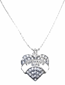 <BR>   WHOLESALE FASHION FIREMAN'S WIFE JEWELRY  <bR>                              EXCLUSIVELY OURS!!  <Br>                         AN ALLAN ROBIN DESIGN!!  <BR>                   LEAD, NICKEL & CADMIUM FREE!!  <BR>              W1673SN1- ANTIQUED SILVER TONE AND  <BR>                       CLEAR CRYSTAL FIREMAN'S WIFE<BR> CHARM ON LOBSTER CLASP CHAIN NECKLACE  <BR>                       FROM $5.40 TO $9.85 �2015