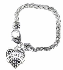 <BR>    WHOLESALE FASHION HAIRDRESSER JEWELRY  <bR>                    EXCLUSIVELY OURS!!  <Br>               AN ALLAN ROBIN DESIGN!!  <BR>         LEAD, NICKEL & CADMIUM FREE!!  <BR>   W1675SB1 - ANTIQUED SILVER TONE AND  <BR>                CRYSTAL HAIRDRESSER HEART <BR>CHARM ON HEART LOBSTER CLASP BRACELET  <Br>            FROM $5.98 TO $12.85 �2015>